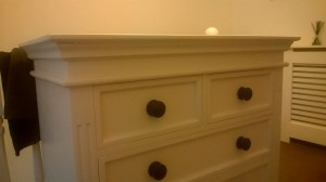 Painted Chest of drawers with detail