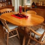 Beech double pedestal table